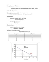 Lecture 3-Comparative Advantage and the Gains from Trade