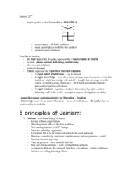 Lecture Notes on Jainism-Jan 22