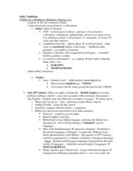 RLG100Y1 Lecture Notes - Indo