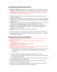 study-guide-chapter1-indigenous-religions