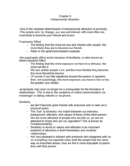 Chapter 9 notes- Attraction