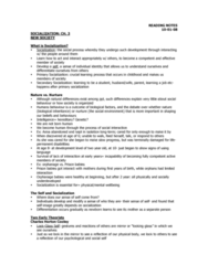 Chapter 3-What is Socialization Oct 1 2008