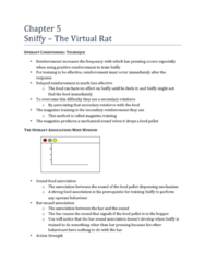 Chapter 5: Sniffy-The Virtual Rat