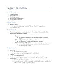 PSYB10H3 Lecture Notes - Acculturation