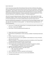 EAS100Y1 Lecture Notes - Gwangju Uprising, National Intelligence Service (South Korea), Sunshine Policy