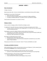 RLGA01H3 Lecture Notes - Nonviolence, Rishabhanatha, Jain Cosmology