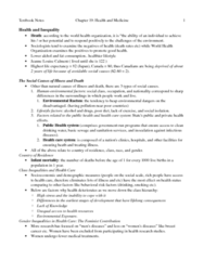 ch19 Health & Medicine