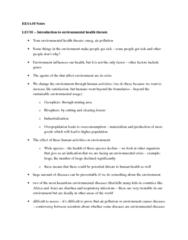 EESA10H3 Study Guide - Final Guide: Lead, Hydrogen Sulfide, Posttraumatic Stress Disorder
