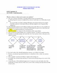SOC101Y1 Lecture Notes - Impression Management