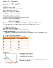 ECO101H1 Lecture Notes - Oligopoly, Blackberry Limited, Demand Curve