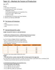 ECO101H1 Lecture Notes - Wvmp, Perfect Competition, W. M. Keck Observatory