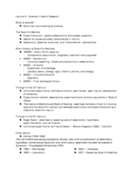HLTB15H3 Lecture Notes - Design Of Experiments, Atomism, Determinism