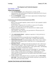 Reading Lec 12 - Global Inequality