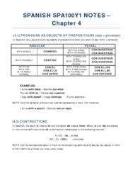 SPA100Y1 Chapter Notes - Chapter 4: Diphthong