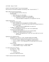 INI100H1 Lecture Notes - Semicolon, Dependent Clause, Independent Clause