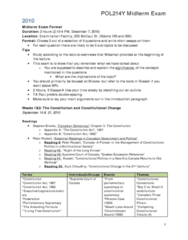POL214Y1 Fall 2010 Term Review