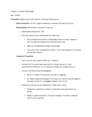 social-psychology-prejudice-lectures-6-7-