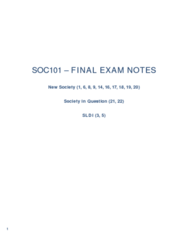 SOC101Y1 Study Guide - Final Guide: Wage Labour, Gerhard Lenski, Status Attainment