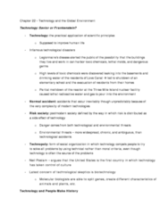 SOCA02 textbook notes for chapter 22 - technology and the global environment