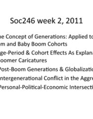 SOC246H1 Lecture Notes - Silent Generation