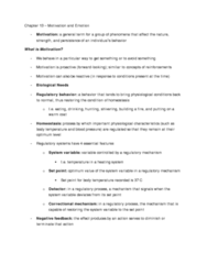 PSYA02H3 Chapter Notes - Chapter 13: Bulimia Nervosa, Anorexia Nervosa, Motivation