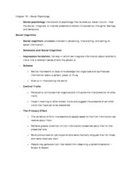PSYA02 chapter 15 notes