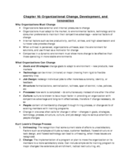 MGHD27H3 Study Guide - Learning Organization, Total Quality Management