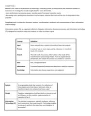 ITM 102 Study Guide - Final Guide: Management Information System, Enterprise Resource Planning, Random-Access Memory