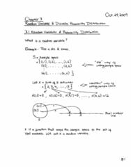 Lecture6 - Oct27 - Ch7 (Random Variables & Discrete Distributions)
