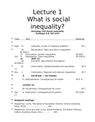 SOC102H1 Lecture Notes - Gerhard Lenski, Social Inequality, Ageism