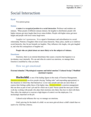 Social Interaction, Lecture 3