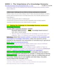 MGMT 1000 Study Guide - Midterm Guide: Knowledge Economy, Peter Senge, Learning Organization