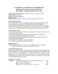 RLGA01H3 Study Guide - Upanishads, Taoism, Vajrayana