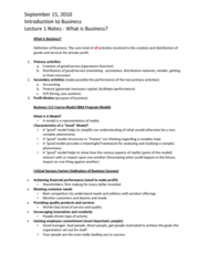 BU111 Lecture Notes - Bachelor Of Business Administration