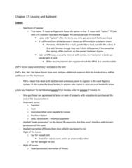BU451 Lecture Notes - Quantum Meruit, Finance Lease, Net Lease