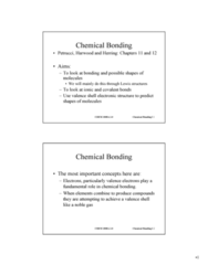 CHEM 1000 Lecture Notes - Chemical Polarity, Covalent Bond, Ionic Bonding