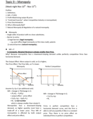 ECO101H1 Lecture Notes - Marginal Revenue, Natural Monopoly, Price Discrimination