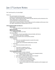 Post-Fordism, Job Precarity, and Health Jan 17 Lecture Notes