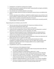 POLS 1090 Lecture Notes - World Social Forum, World Economic Forum, World Trade Organization