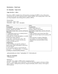 Bio2280 Final Notes