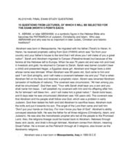 RLG101 Exam Study Questions