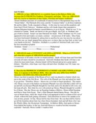 RLG101H5 Study Guide - Final Guide: Mysterium Tremendum, Book Of Deuteronomy, Terah