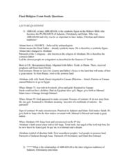 RLG101H5 Study Guide - Final Guide: Pharaoh, Oral Torah, Temple Mount