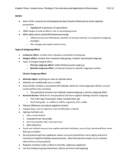 PSYC12 Prejudice - Chapter 3 Notes