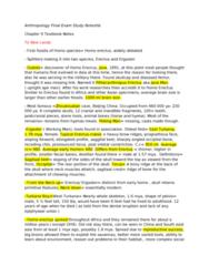 ANTA01H3 Study Guide - Final Guide: Gene Flow, Sangiran, Cave Bear