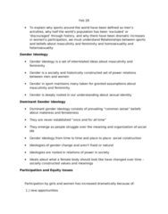 PERLS104 Lecture Notes - Homophobia, Heterosexuality