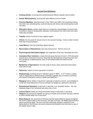 Women's Studies 1020E Study Guide - Ibm 7090
