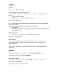Economics 1021A/B Lecture Notes - List Of Compositions By Johann Sebastian Bach