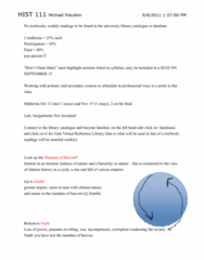 HIST111 Lecture Notes - Order Of Merit, Ibm 7090