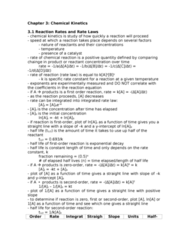 Chemistry 1027A/B Study Guide - Final Guide: Rate-Determining Step, Rate Equation, Arrhenius Equation